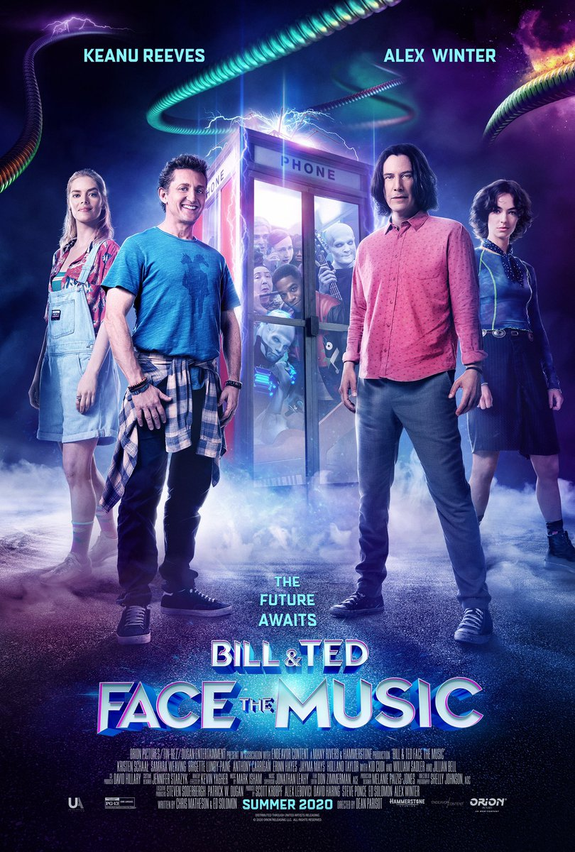 Dude... even the poster looks awesome... woah... EXCELLENT!  #BillAndTed3 pic.twitter.com/N0qvDUE4wR