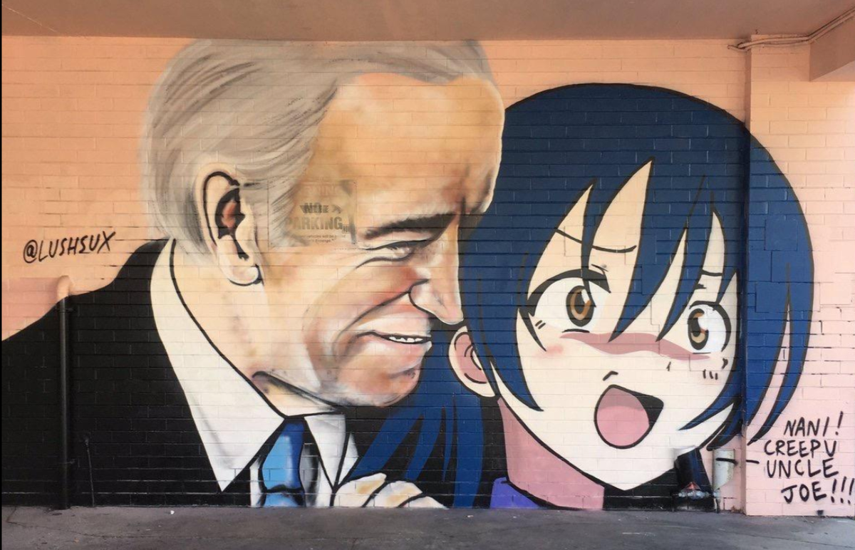 😎 It was early to mid-april when Joe Biden settled into his basement isolation from the world. Hes ventured out a few times, socially distanced of course. And so Joes endured months of abstinence... denied groping shoulders & sniffing the hair of big and little girls & boys.