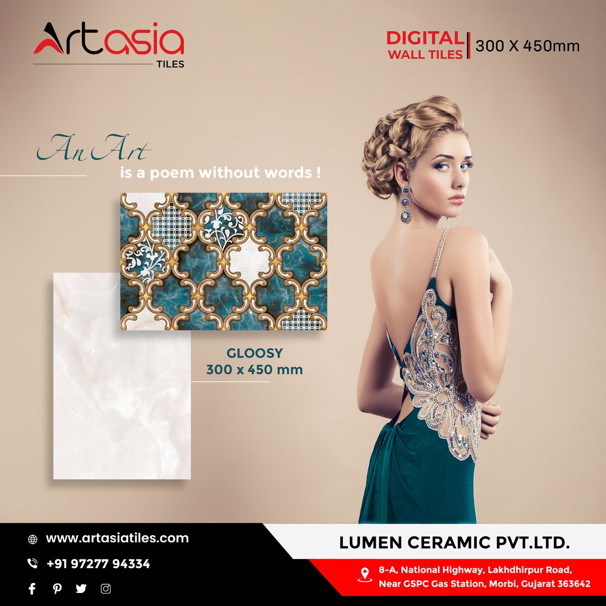 """""""An Art is a poem without words !""""  300x450mm   Glossy   Digital Wall Tiles #artasiatiles #300x450mm #livedesign #Artasia #digitalwalltiles #tiles #ceramictiles #ceramic #interiourdesign #interiourhome #morbitiles #exports #tileexport #bestqualityproducts  #morbi #gujarat #indiapic.twitter.com/vuJ488bYK1"""