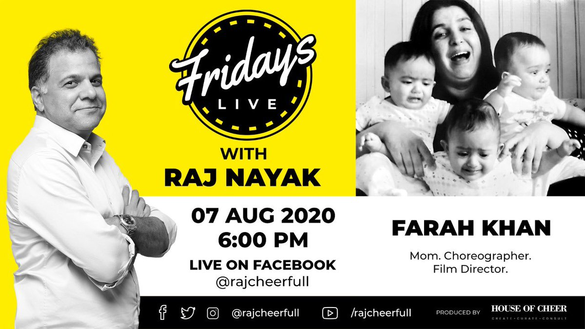 Cannot ever refuse the nicest person @rajcheerfull .. do join.. #fridayslivewithrajnayak