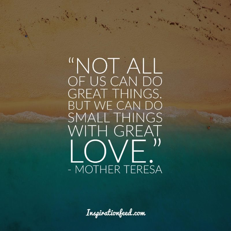 Small Things with Great Love!