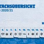 Image for the Tweet beginning: Unser Spielplan für die Saison