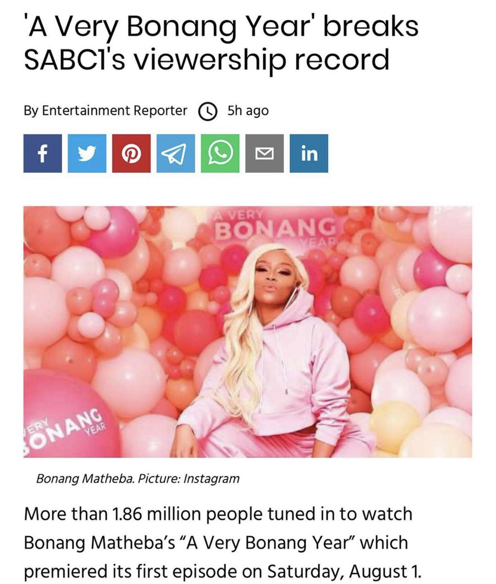 We Stan a record breaking Queen 👑  Here's to #AVeryBonangYear 🥂  #RealGoboza https://t.co/qtJpAaVDP3