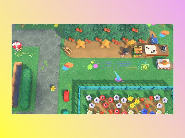 新しいマイデザを登録しました🖍にじんだえのぐ_1〜5作家のCYONさん( @cyoooooon )の作品からインスピレーションを受けて作りました!#どうぶつの森 #AnimalCrossing #ACNH #NintendoSwitch#マイデザイン #ACNHDesigns #acnhpattern