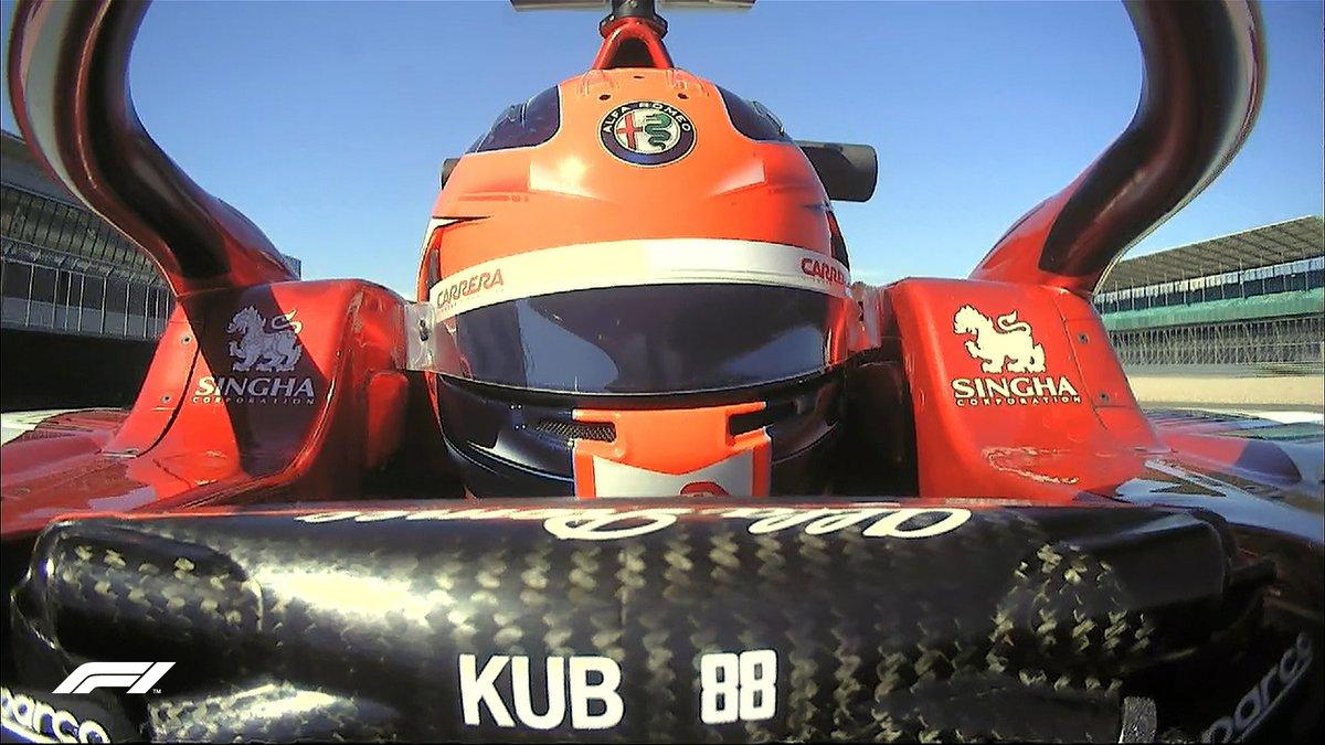 Hi Robert! 👋  Kubica's running in Giovinazzi car for FP1 🙌  #F170 🇬🇧 @alfaromeoracing https://t.co/ti0MYyWiNR