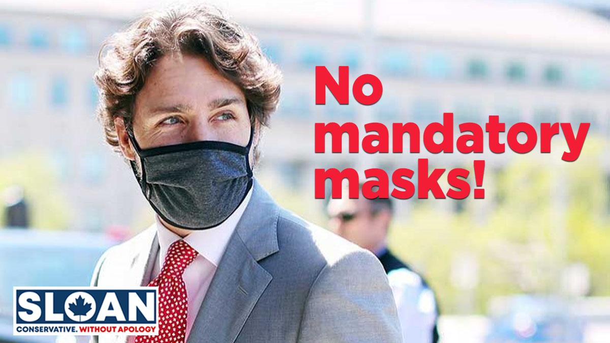 I am 100% against mandatory masks. #cpcldr #cdnpoli