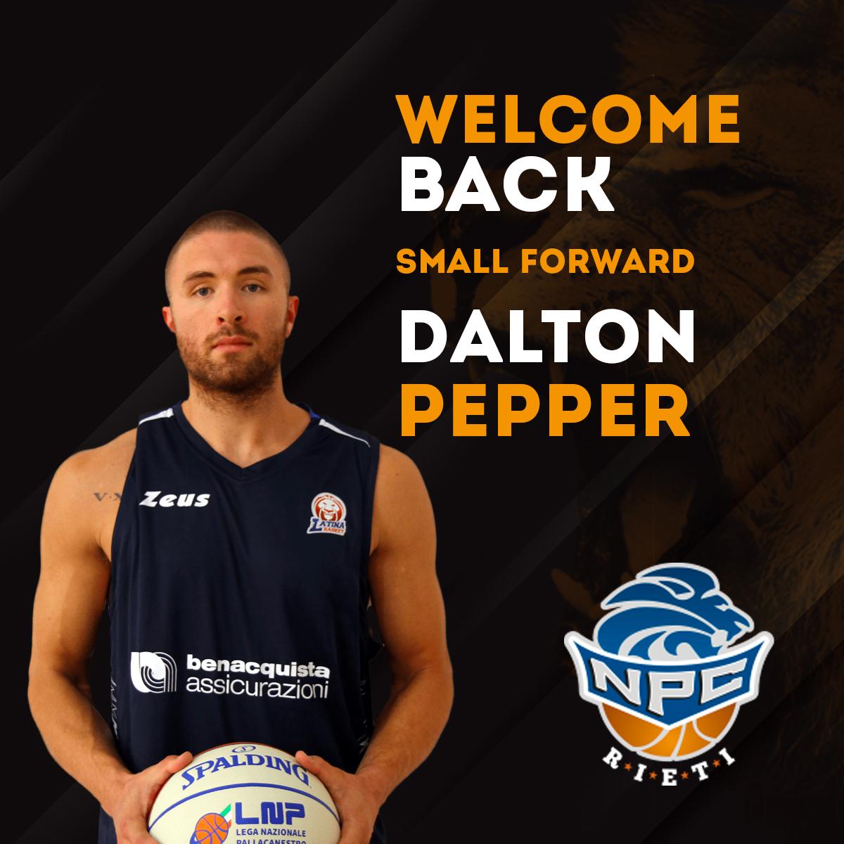 NPC Rieti, ufficiale il ritorno di Dalton Pepper