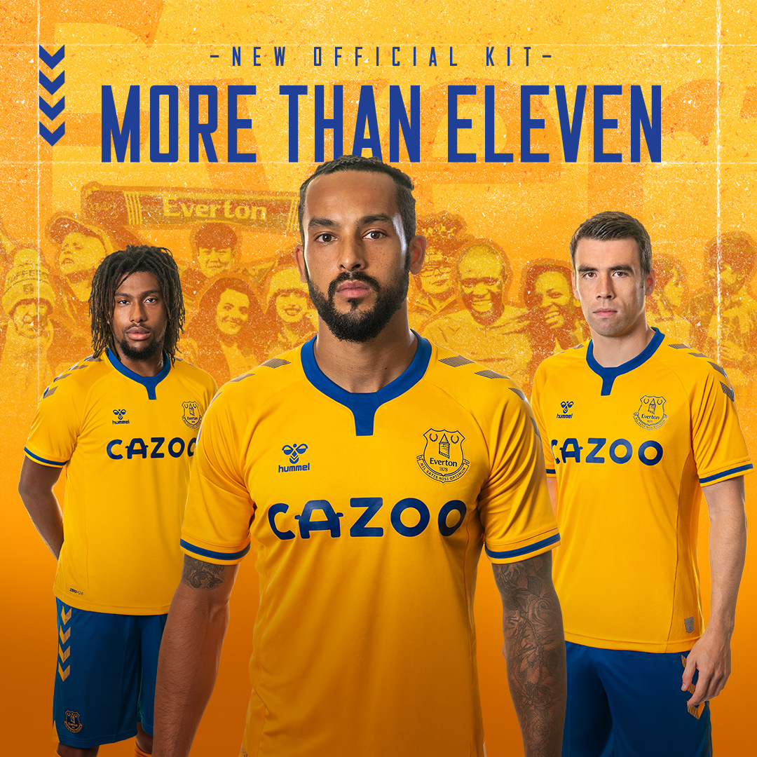 IT'S HERE – introducing the 2020/21 @everton away kit. Let's make new memories in amber and blue 💛💙  #ShareTheGame #hummelsport #EFC #MoreThanEleven https://t.co/XbWpz4KKqs
