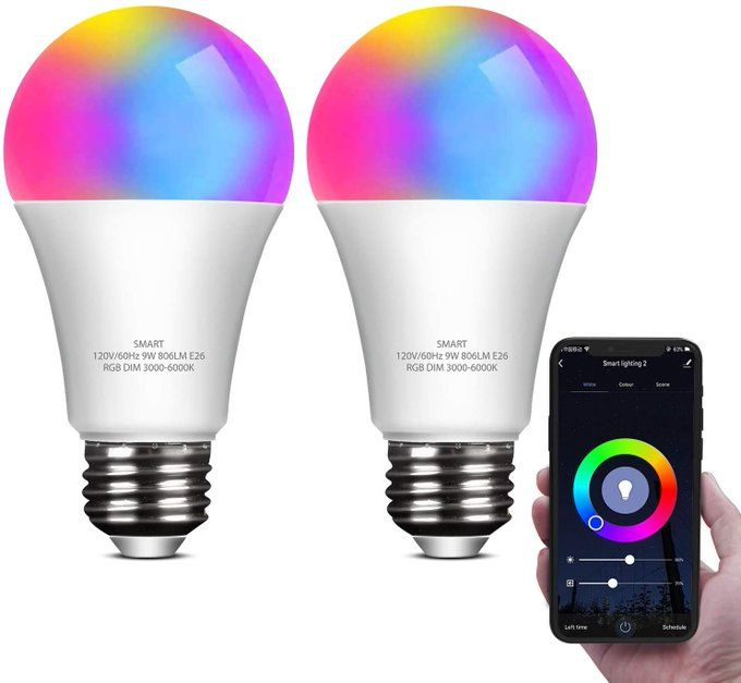 2 pack of Smart LED Bulbs, $13.49!!  *coupon PLUS code; 20DJVLQT  2