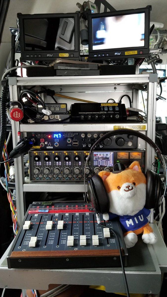ポリは今日、音声さんのお手伝い✨「マイク、良好でーす」#MIU404 #tbs #金曜ドラマ#ポリまる #第7話は今夜10時