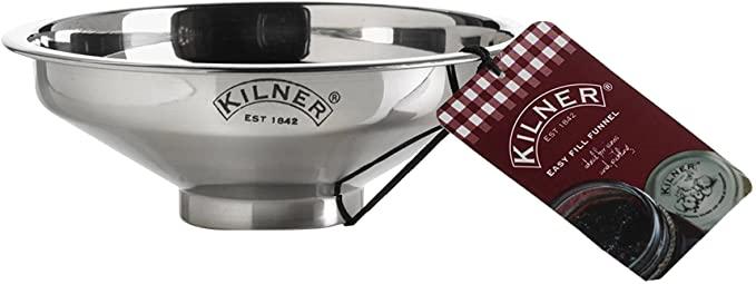 Kilner Stainless Steel Easy Fill Jam Jar Funnel, Silver, 14 x 14 x 5 cm - £3.74