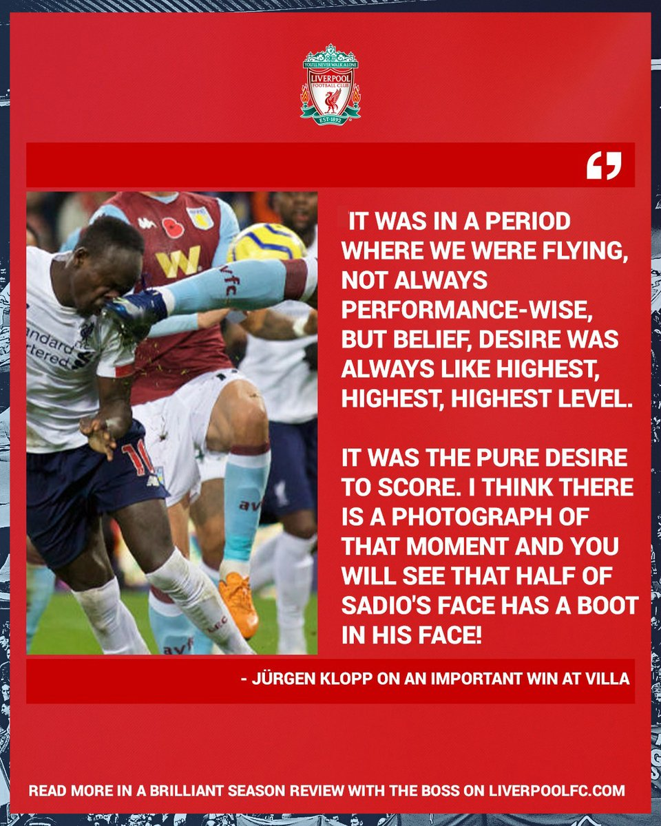 𝗣𝘂𝗿𝗲 𝗱𝗲𝘀𝗶𝗿𝗲 💪 The boss reflects on a memorable Sadio strike in his season review 👌