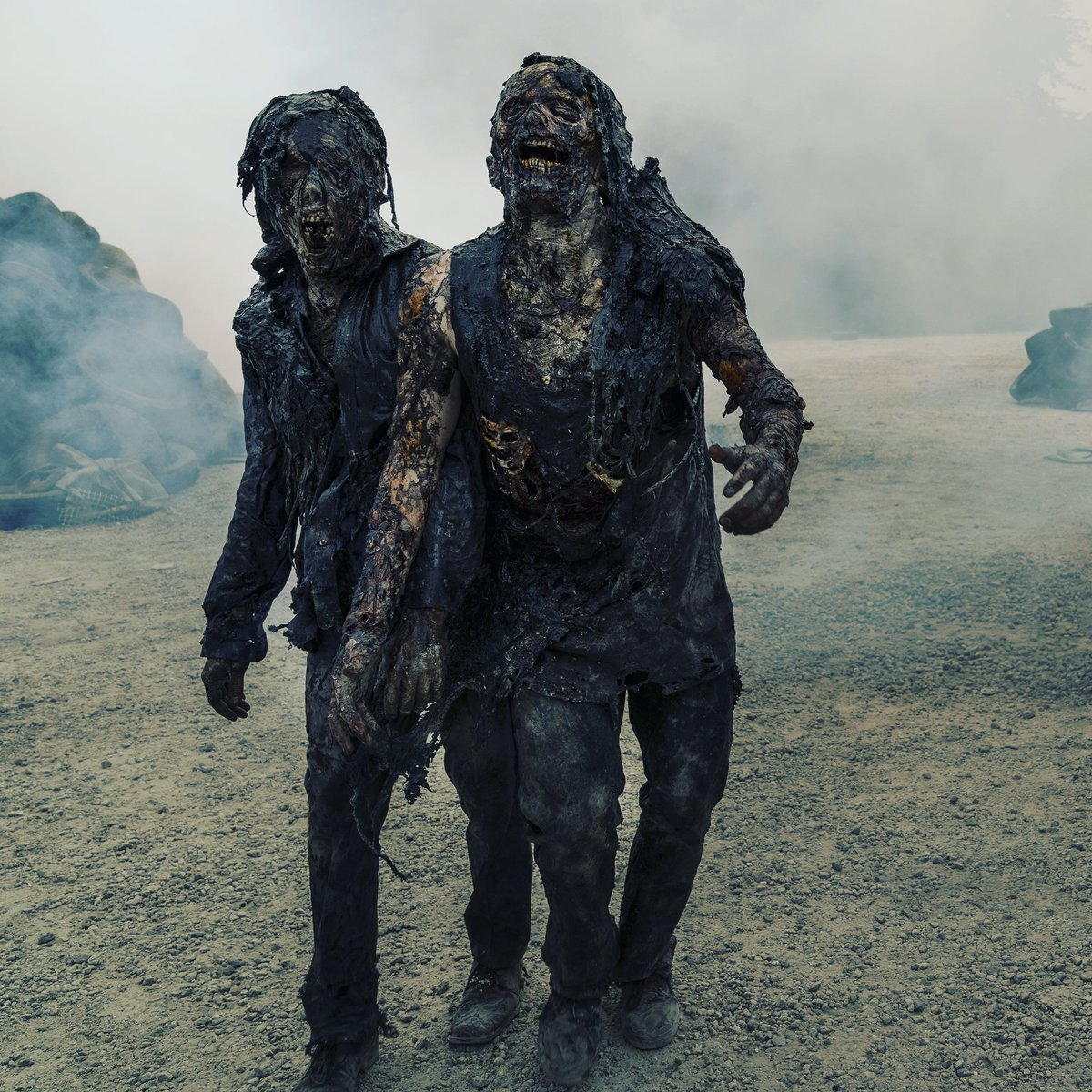 Come to the BBQ they said. It'll be fun they said.  #empties #walkers #twd #thewalkingdead #twdfamily #TWDU #TWDUniverse #feartwd #TWDWorldBeyond @WalkingDead_AMC @FearTWD @TWDWorldBeyond  Macall Polay/AMCpic.twitter.com/KkhuJvrqjr