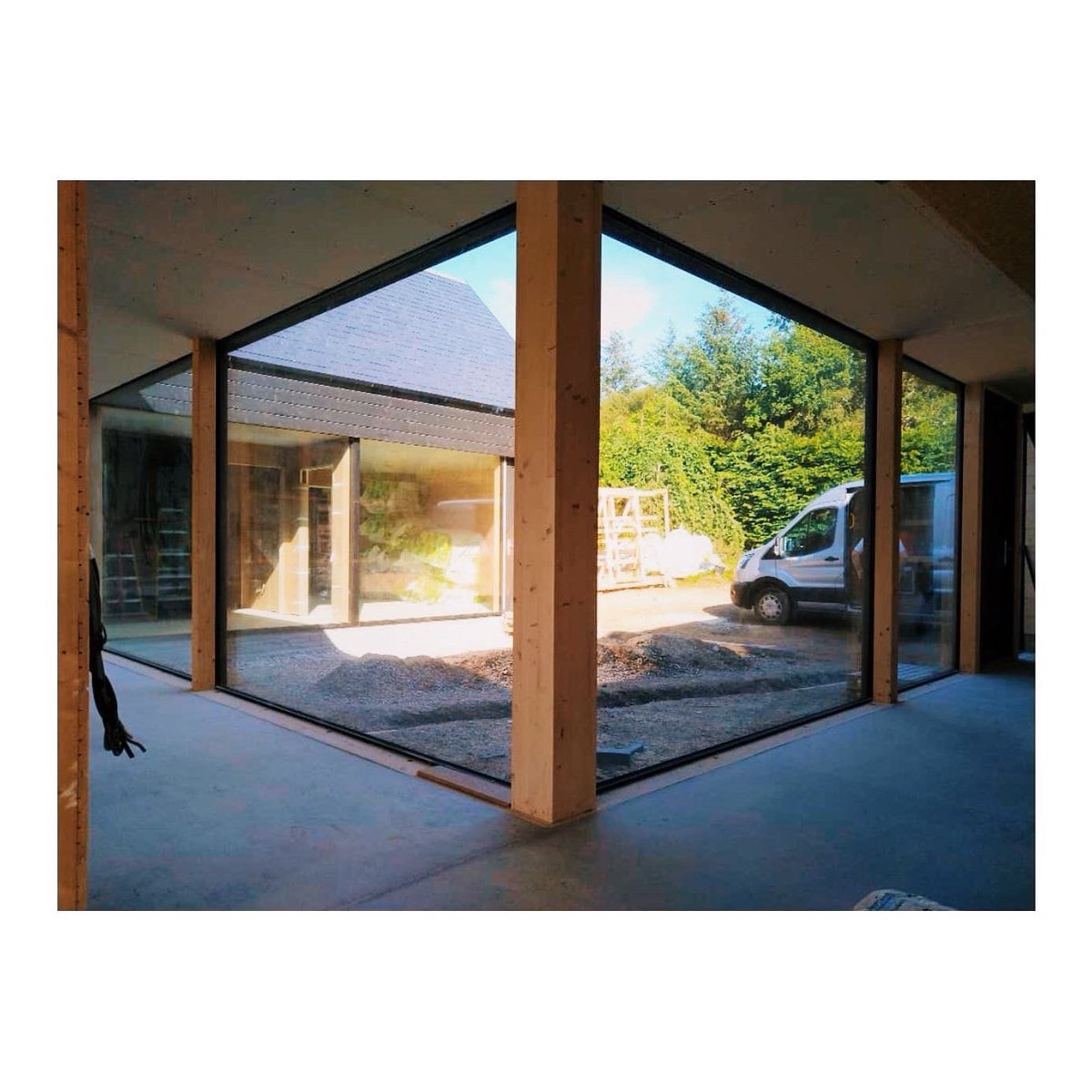 House at Culbo on The Black Isle Unser construction - Images by contractor Zucconi Carpentry - #house #blackisle #inverness #highlands #scotland #construction #house #wip #design #selfbuild #sitevisit #architectontour #brownandbrownarchitectspic.twitter.com/JFne9FSiGt