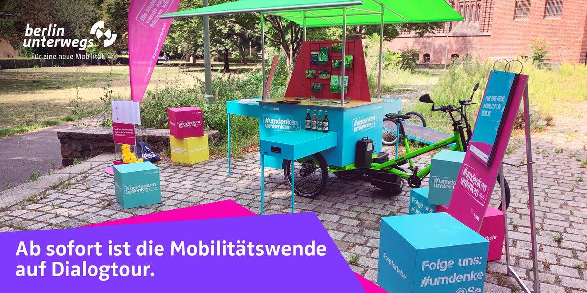 Die Mobilitätswende spricht mit Euch: Unsere Infotour ist gestartet. Die nächste Station ist am Sonntag, 9. August am FEZ in der Wuhlheide. Wir sind vom 10-16.00 Uhr vor Ort. #umdenkenumlenken https://t.co/X5BehoNrdf