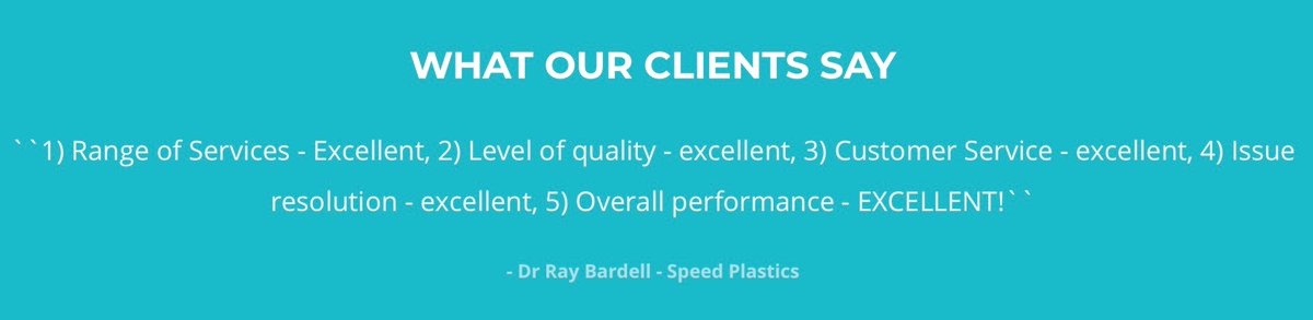 See this glowing review from one of our clients. We pride ourselves on our impeccable work, so why not get in contact today. Email: lorri@hydrovern.co.uk or call: 01299 879675 #rapidprototyping #injectionmoulding #cnc #fabrication #3dprinting #prototypingpic.twitter.com/Ph32Y6dpSV