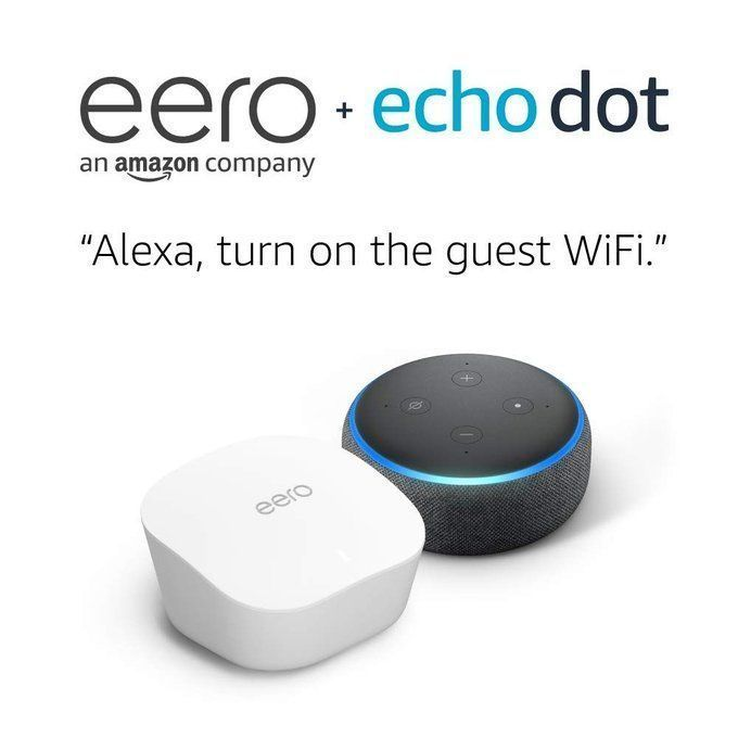 Amazon Eero Mesh Wifi with Free Echo Dot $199 (retail $298!)
