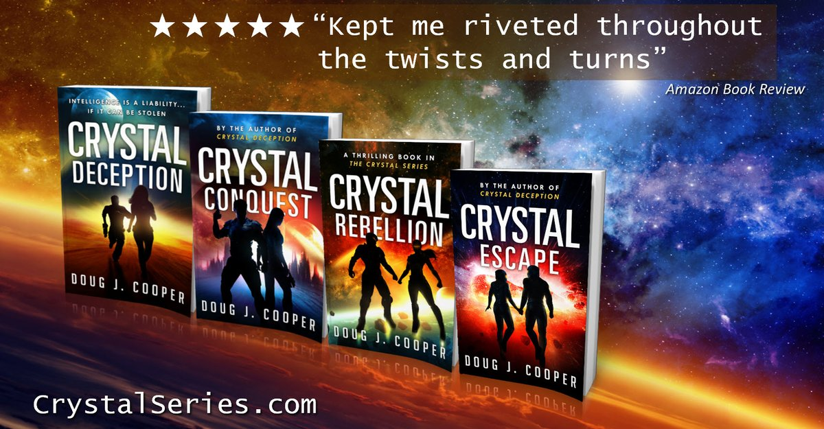"RT @crystalseries ""I need to eat, clean up, eat, pack, and eat,"" said Juice. The Crystal Series – futuristic suspense Start with first book CRYSTAL DECEPTION Series info: http://CrystalSeries.com  Buy link: https://www.amazon.com/default/e/B00F7IJBP0 …  #kindleunlimited #scifi pic.twitter.com/DzvePfDbYM"