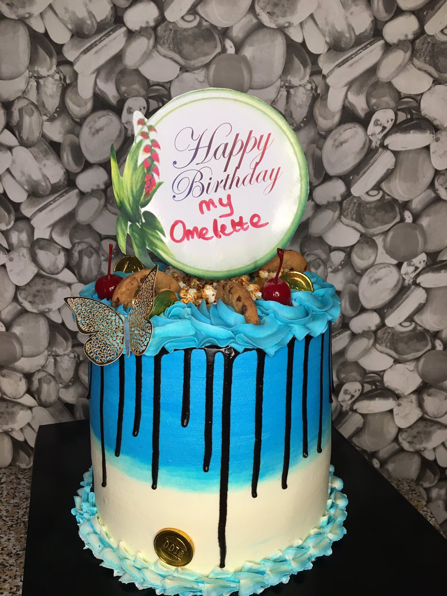 Ombré  7 inches layers of vanilla +chocolates + strawberry flavors  12k only . Kindly retweet pic.twitter.com/UUo8tvZknl – at Alapere