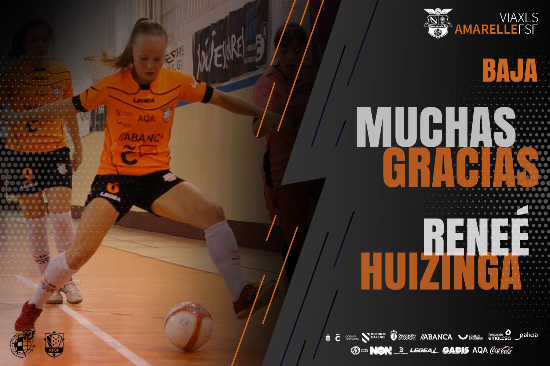 Reneé Huizinga e Inés Suárez no continuarán, y causan baja en la primera plantilla, la nueva temporada en el Viaxes Amarelle FSF