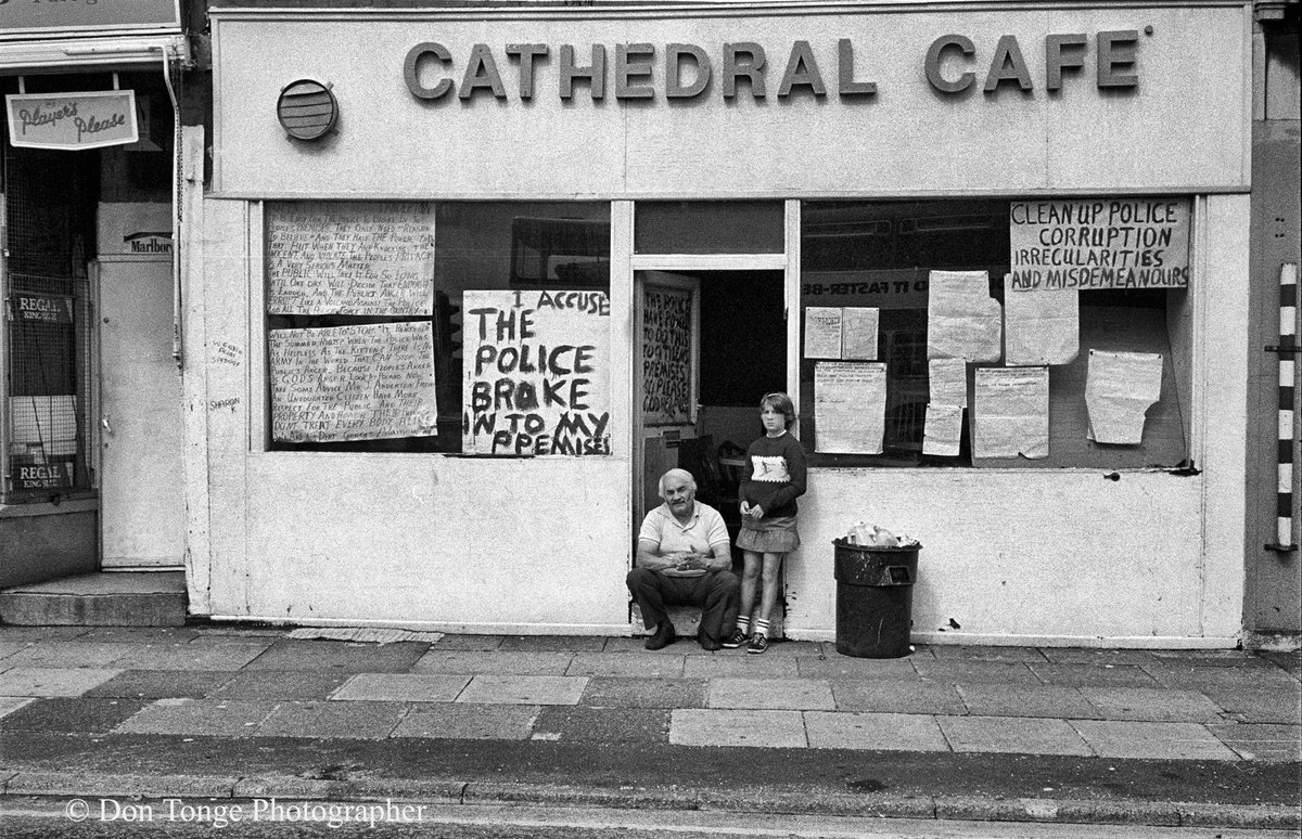 Taken near Salford Cathedral, England UK in 1983 © Don Tonge