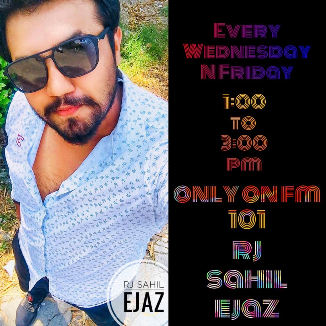 """Listen """" Smile & Dial"""" with Rj Sahil Ejaz from 01 to 03pm on #FM101pic.twitter.com/5gJtM3MZKq"""
