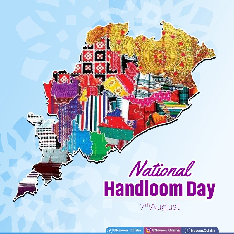 Wearing this beautiful Handloom Sambalpuri Saree made by the weavers of #Odisha.  We must encourage d handloom weavers of our country, the rich & beautiful craft & also highlight the handloom industry. On the occasion of #NationalHandloomDay let's b #Vocal4Handmade. #MakeInOdishapic.twitter.com/t1ObXG5HlK