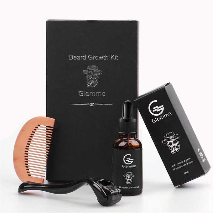 Beard Growth Kit with Derma Roller, $19.99!!  20% off!