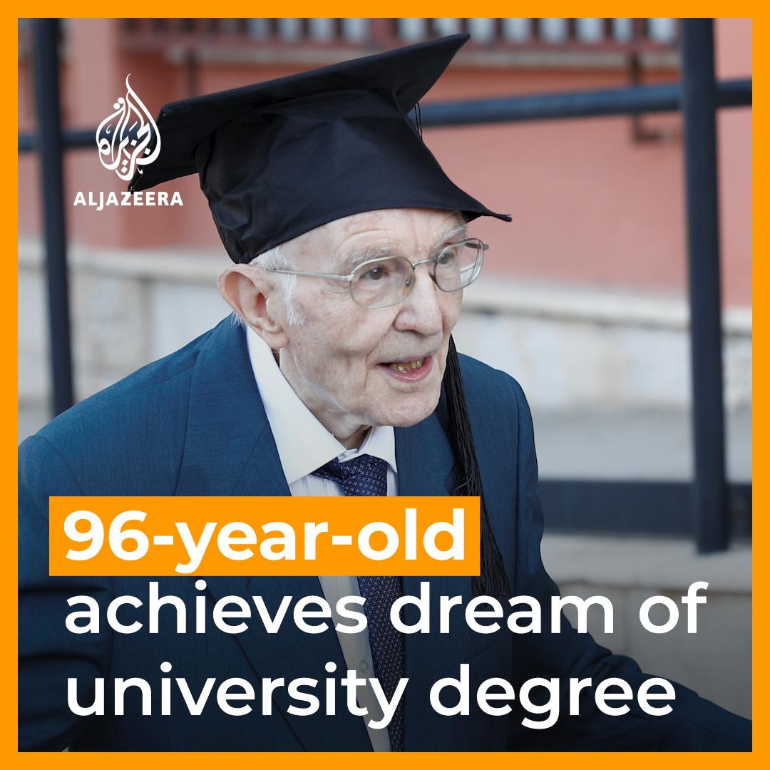 """Giuseppe Paternò, laureato in """"Studi Filosofici e Storici"""" all' Università di Palermo, alla veneranda età di 97 anni @unipa_it"""