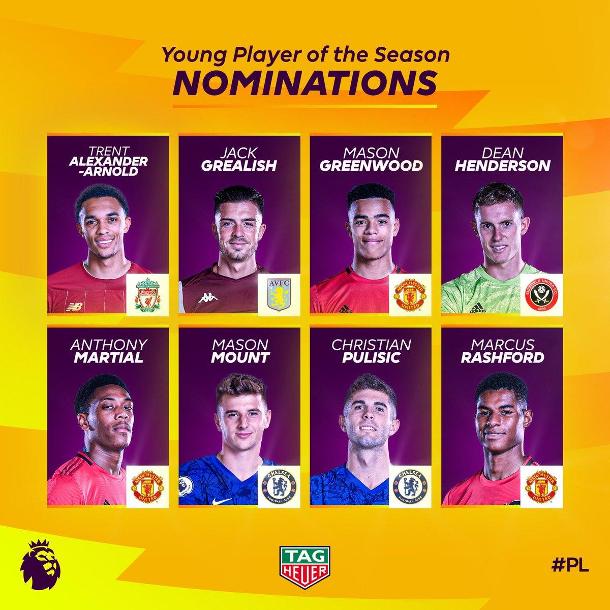 Candidats pour le meilleur jeune de la saison
