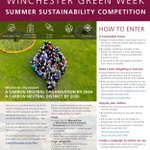 Image for the Tweet beginning: Enter our Summer Sustainability Challenge