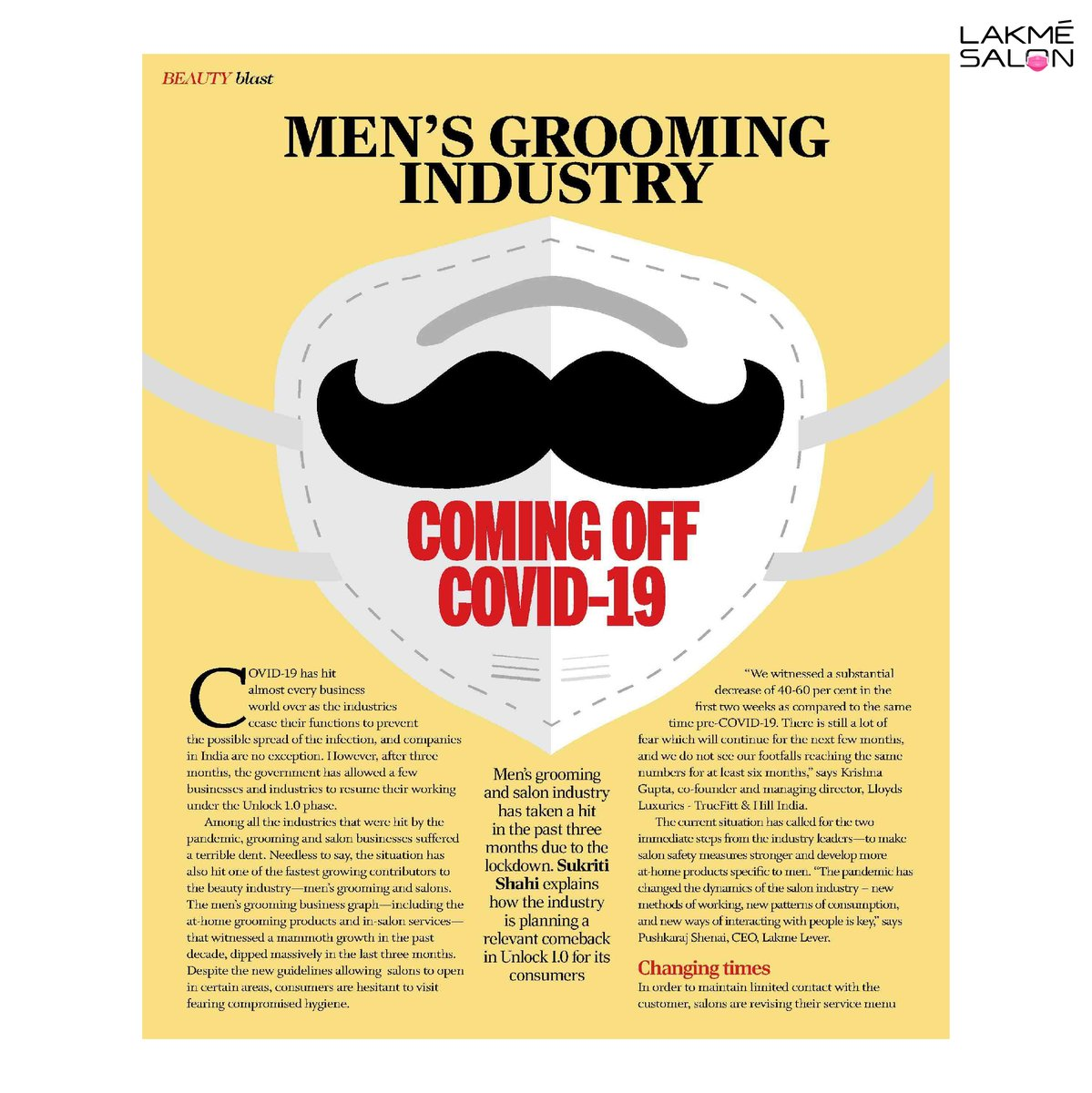 Lakmé Lever discusses the new dynamics of the salon industry and how Lakmé Salon is following strict social distancing measures, pre-screening every individual, and providing their experts with protective gear as per the new strict safety and hygiene protocols. https://t.co/XMJWv2NLKb