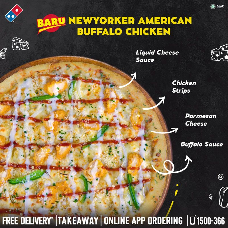 Domino S Pizza Id On Twitter Baru Newyork Style American Buffalo Chicken Pizza Perpaduan Chicken Strips Liquid Cheese Sauce Buffalo Sauce Parmesan Cheese Diatasnya Nah Weekend Ini Kalo Beli Newyorkstyle Pizza Bisa