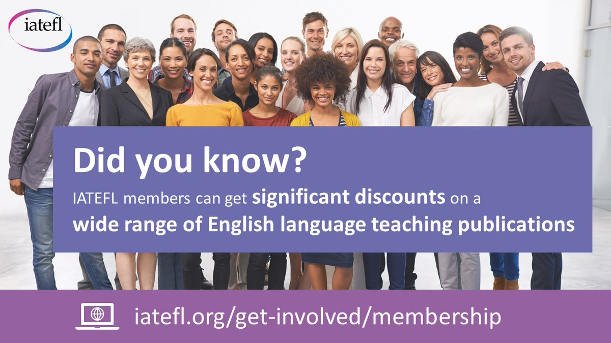 Did you know? Membership of IATEFL entitles you to significant discounts on a wide range of English language teaching magazines, journals, reviews and other publications brought to you by a range of publishers. https://www.iatefl.org/get-involved/membership…  #iatefl  #joiniatefl  #memberbenefitspic.twitter.com/UbcD66sB3a