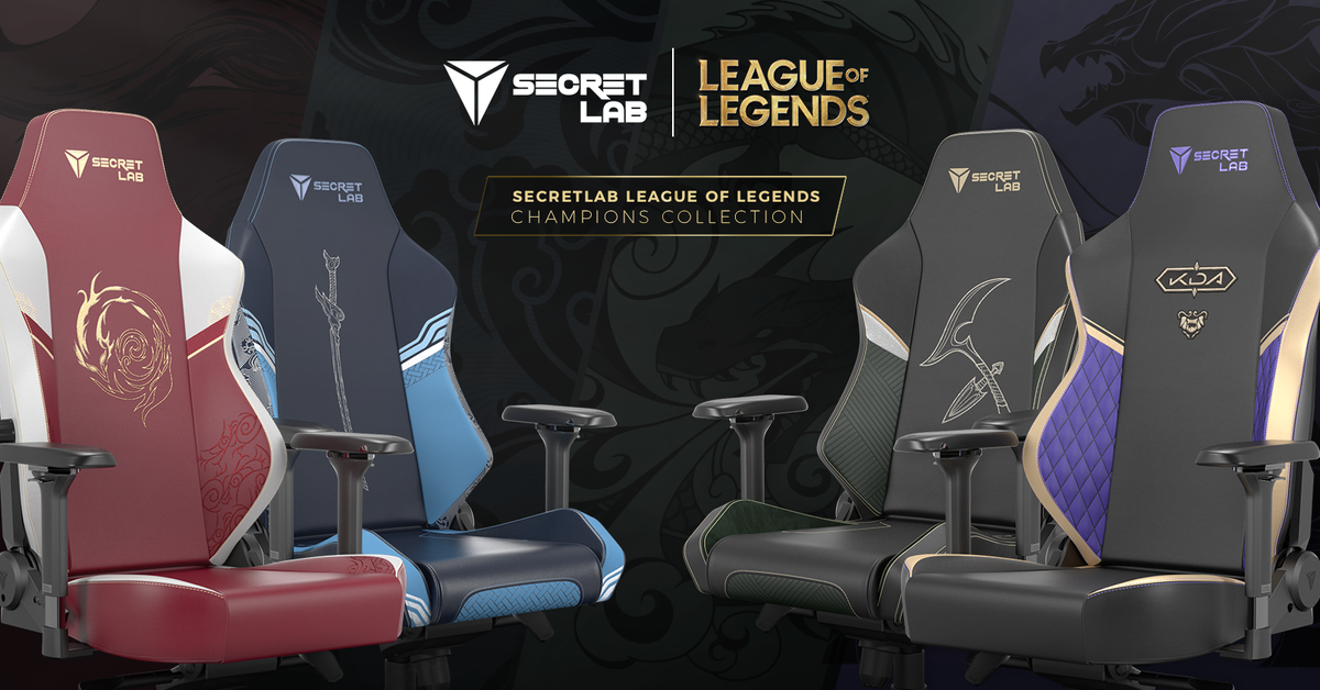 🪑 @secretlabchairs x @LeagueOfLegends Champions Collection! 👊🏻 Step into the Summoner's Rift with the world's first official League of Legends gaming seats, inspired by virtual pop phenomenon K/DA and fan-favorite champions Akali, Ahri, and Yasuo! secretlab.co.uk/pages/leagueof… ⚔