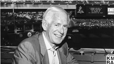 Jack Buck was born 96 years ago today. He left his microphone in good hands with son Joe. He passed with son Joe (and others) at his bedside in 2002. @Buck @cardinals @FOXSports   https://t.co/m53VQPKGP9 https://t.co/N1gz29r8Ti