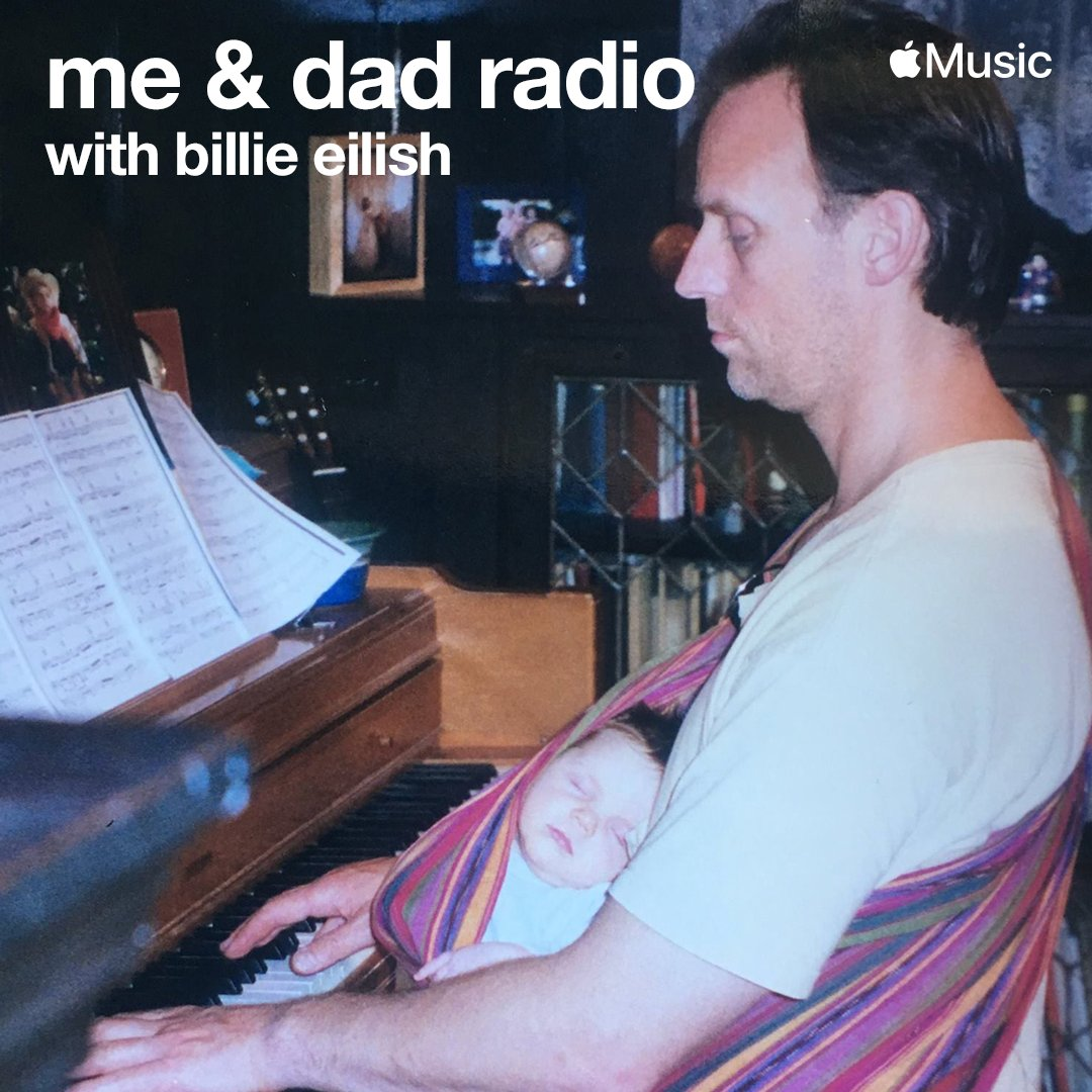 """Billie Eilish - me & dad radio - """"last one"""" The final episode is available on demand now on Apple Music 1. @applemusic https://t.co/xSnC1qneV9 https://t.co/F6i3oTqouw"""