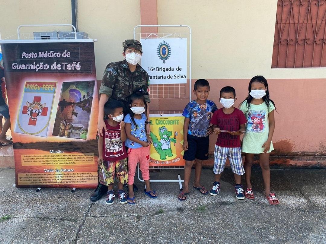No Amazonas, 16ª Brigada de Infantaria de Selva promove Ação Cívico-Social no Distrito de Caiambé https://t.co/5ElJMoWihV #BraçoForte #MãoAmiga https://t.co/7wfuCOFbcr