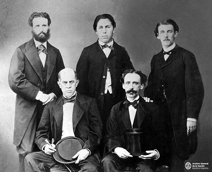 """Argentina en la Memoria on Twitter: """"Legación Argentina en Washington, Estados Unidos, 1867. En la foto se ve a Alberto Halbach, Salcedo, Bartolomé Mitre y Vedia, Domingo Faustino Sarmiento y Juan Lavalle ("""