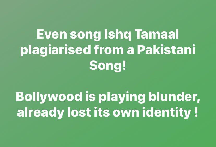 So u copy music from Pakistani Artists & even after knowing dat all d Pakistani Artist are banned @PMOIndia @foxstarhindi @DisneyplusHSVIP @VisheshFilms @sonymusicindia    @Suniljeet72 @javedali4u @priyankabose20 @mohankapur #AkshayAnandd #ShaluVaish #MukeshBhatt #SuhritaSengupta