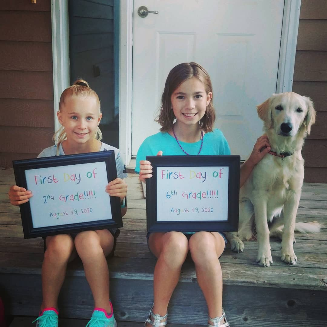 First day of school for our kiddos! Can't believe how fast these years go by. So proud of our girls ☺️ hope and pray for a healthy and safe school year! 🎒📚✏️ #firstdayofschool  #WeAreBV https://t.co/KvhbM5zkG1