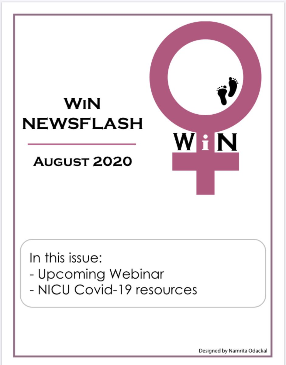 #aapWiN August 2020 Newsflash featuring this month's #WiNtrailblazer, new poll results, #COVIDneo resources https://t.co/4G1VJAbZnm