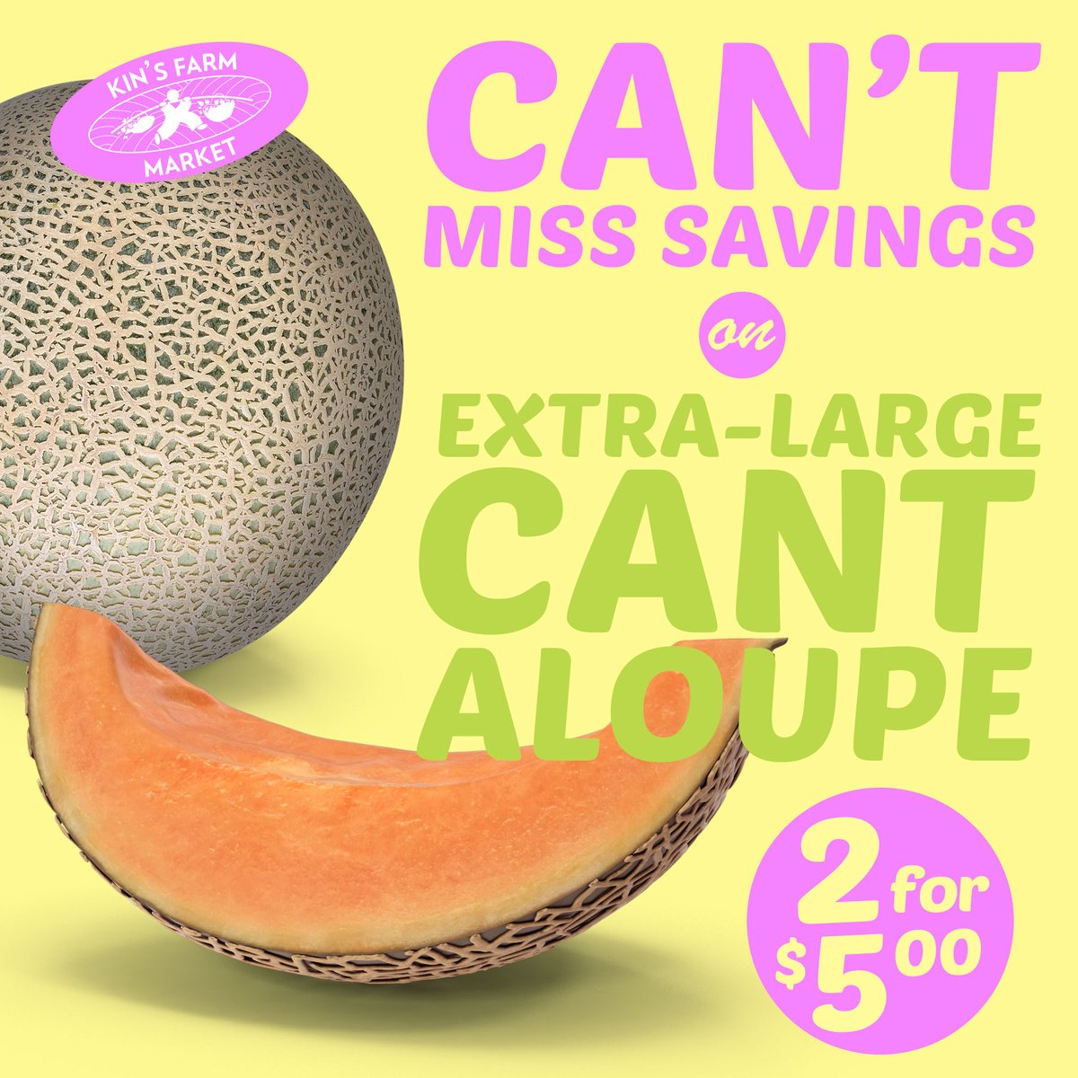 Kin S Farm Market On Twitter Kin S Daily Deal Right Now We Re Featuring Some Extra Large Savings On Our Extralargecantaloupe Until End Of Day Tomorrow Aug 20 They Re Just 2 For 5 Any Way Последние твиты от cantaloupe   freelance b2b copywriter (@cantaloupeuk). twitter
