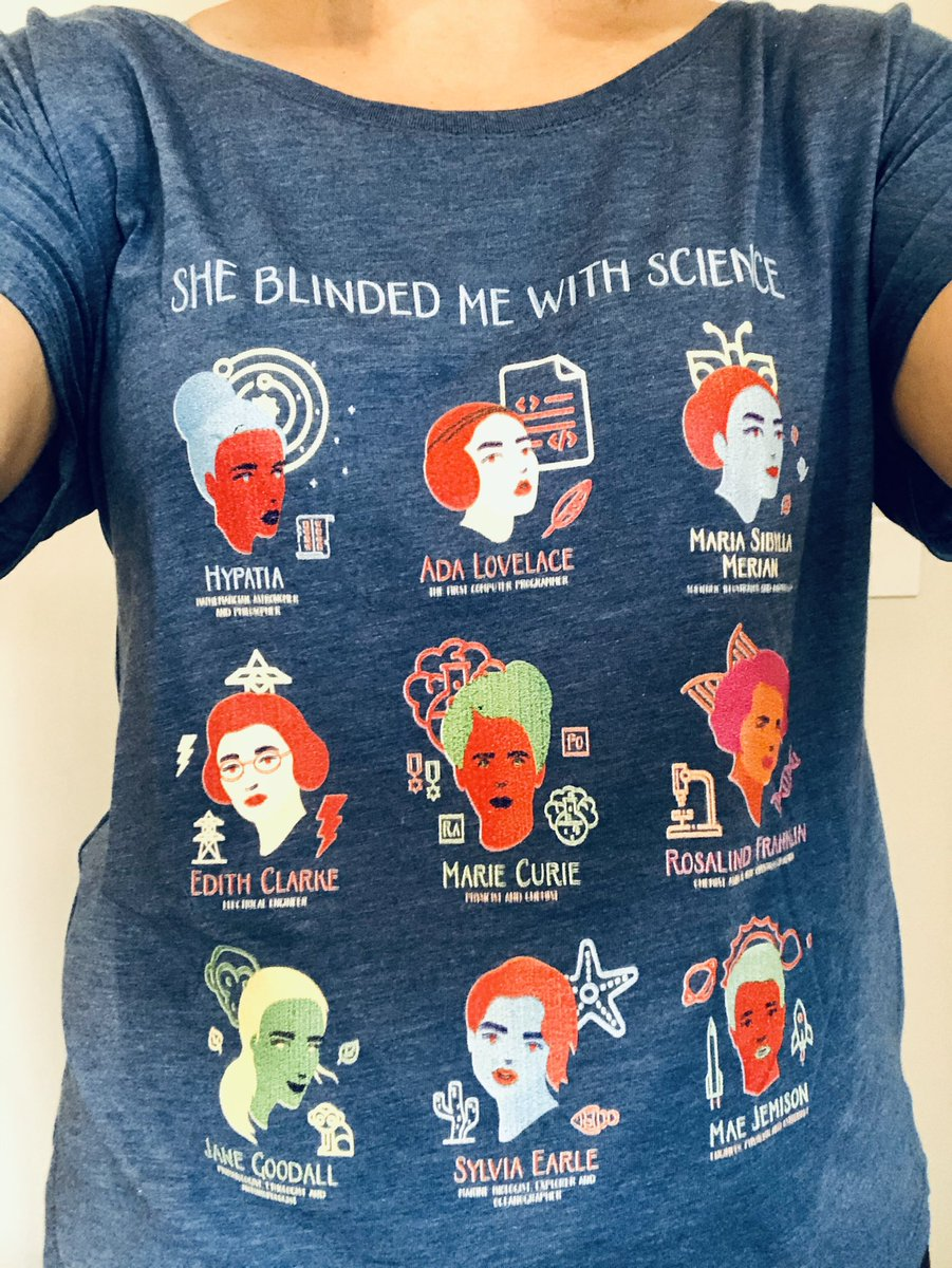 New t-shirt arrived just in time for #NationalScienceWeek #WomenInSTEM