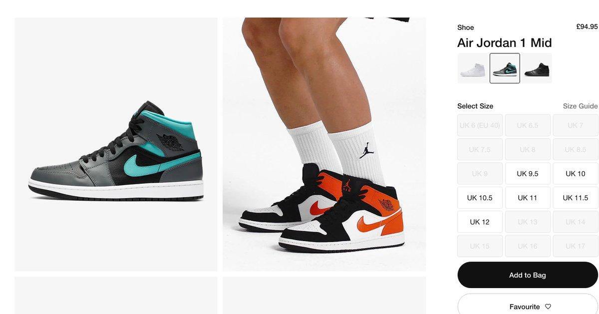 ad: Jordan 1 Mid Smoke Grey / Aurora RESTOCK On Nike EU >> tidd.ly/39F99HB