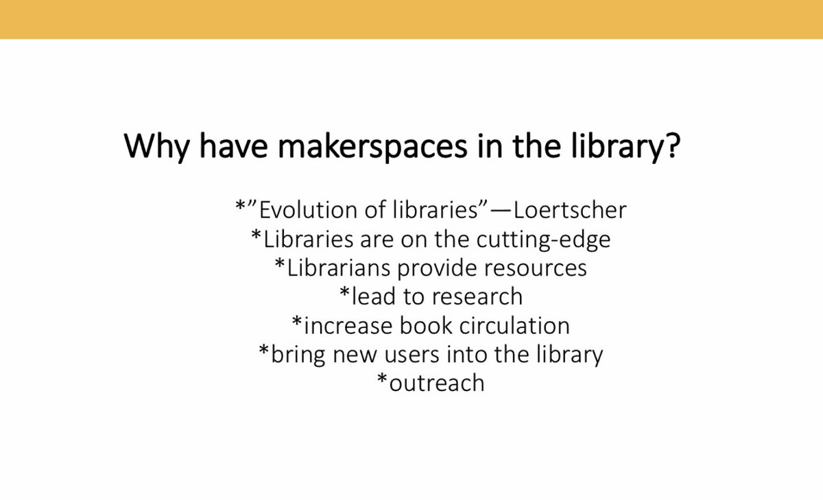 Agree 100% Libraries are the cutting edge. #makerspace @libraryladysays @UNTCOI Why makerspace?