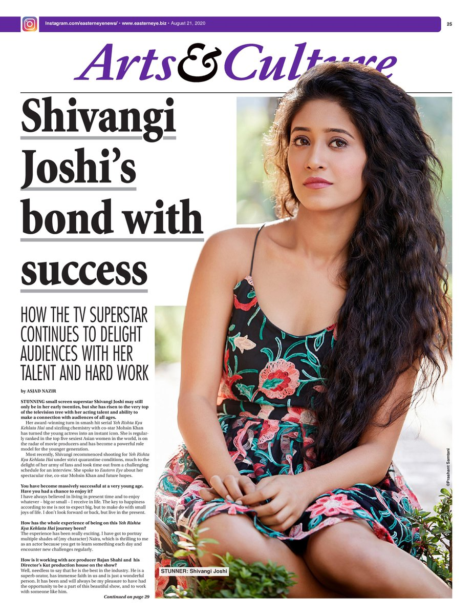 My big cover interview with @shivangijoshi10 out now, including a lovely comment from ace producer Rajan Shahi on the super talented actress. #ShivangiJoshi #YehRishtaKyaKehlataHai #YRKKH ONLINE LINK: https://t.co/w7dezaHstf https://t.co/qgRW0KjrMV