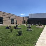 Image for the Tweet beginning: Enjoying our outdoor learning space!