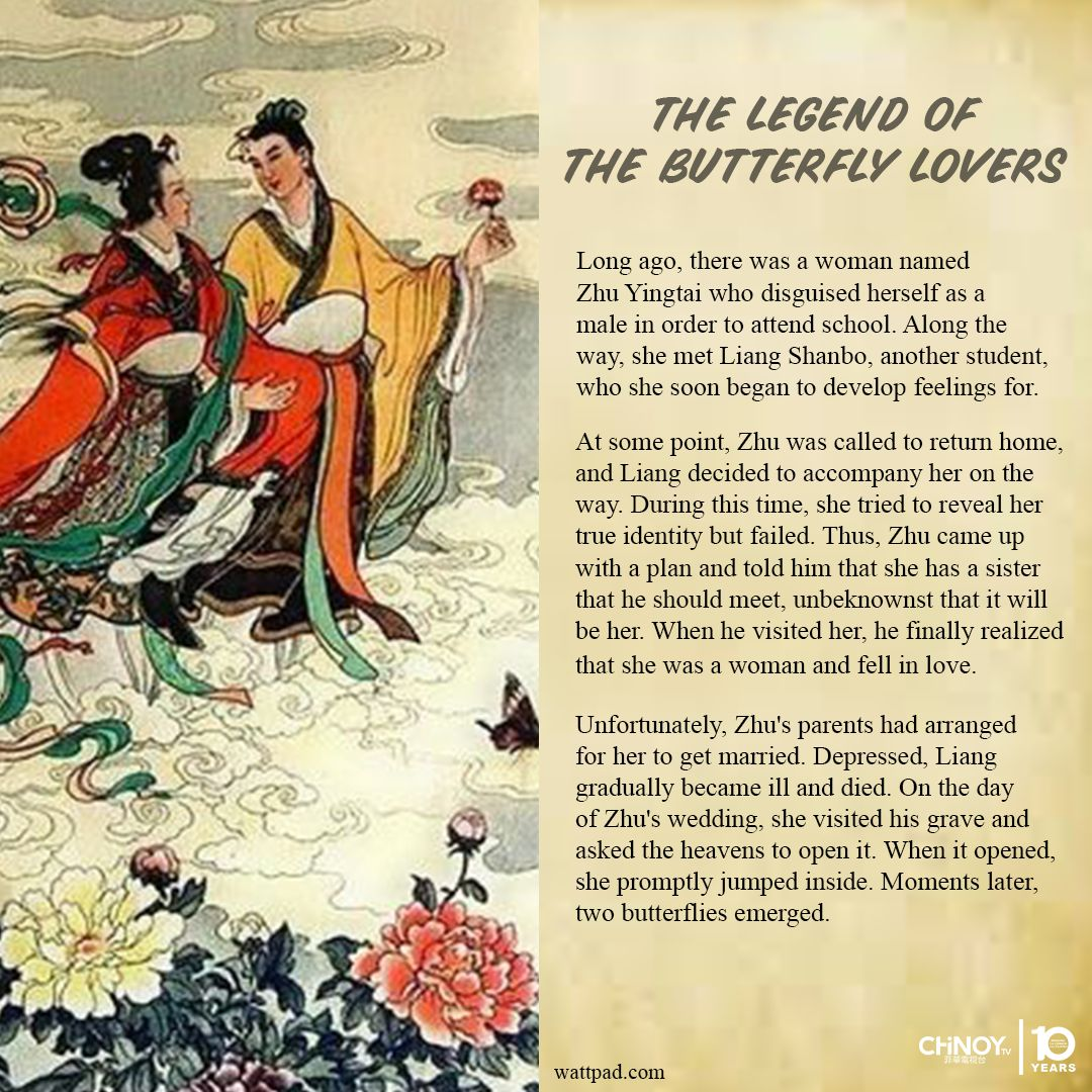 #CHiNOYLegends | It is said that the legend of the butterfly lovers is the Chinese Romeo and Juliet.  #butterflylovers https://t.co/eFrDaO9mQJ
