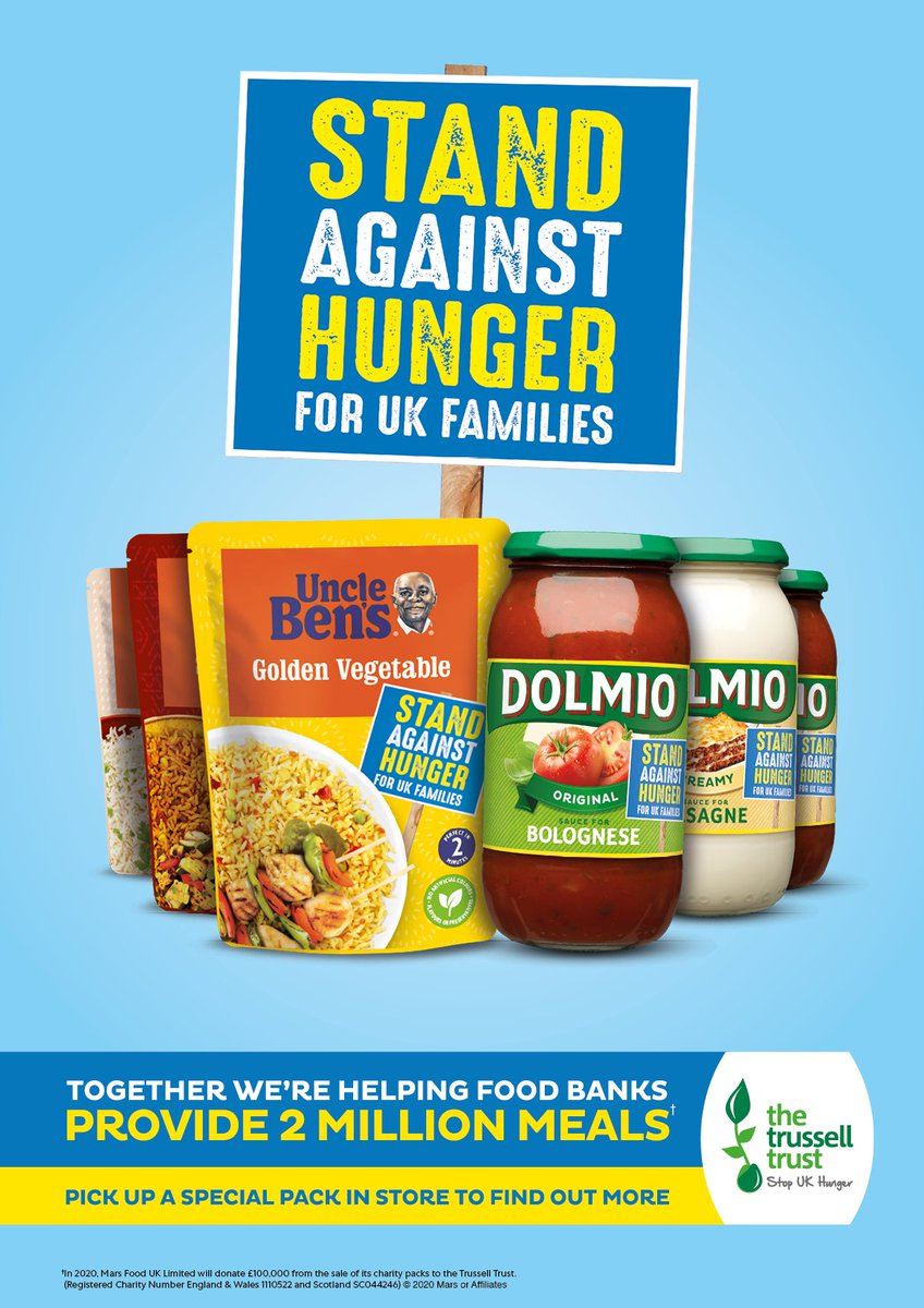 This year, we're partnering with the Trussell Trust to Stand Against Hunger. To find out more, including how you can help, visit dolmio.co.uk/partnerships